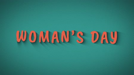 равный : Animated bouncing letters Womens Day