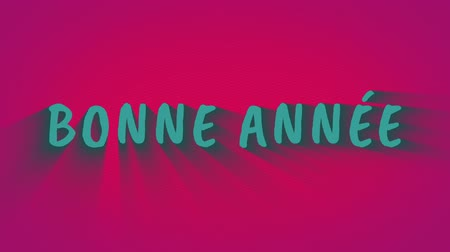 congratulating : Animated bouncing letters Bonne Annee