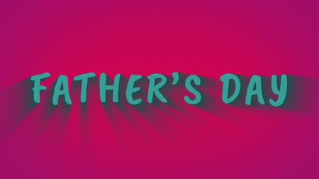 neşeli : Animated bouncing letters Fathers Day Stok Video