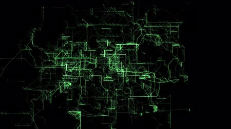 arame : 3D animation of the digital network. No background Stock Footage