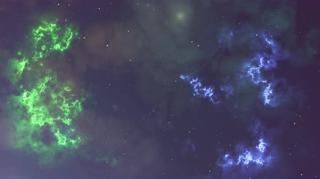 astronomical : Animation of glowing flicker nebula and stars