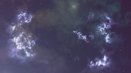 válečné loďstvo : Animation of glowing flicker nebula and stars