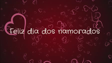 amour : Animation Feliz dia dos Namorados, Happy Valentines day in portuguese language, greeting card