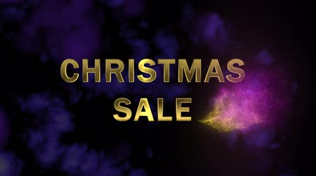 hůlky : Golden letters Christmas Sale and magical glittering particles.