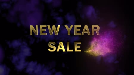 traço : Golden letters New Year Big Sale and magical glittering particles. Vídeos