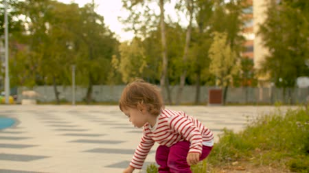 çok güzel : Very active little girl on the playground