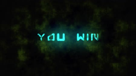 você : Techno YOU WIN text animation