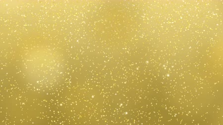 pré natal : Gold Christmas light background, glitter effect template. Elegant sparkle texture of golden snow or stars falling for celebration event or holiday season. Xmas card 4k 2d animation footage. Stock Footage