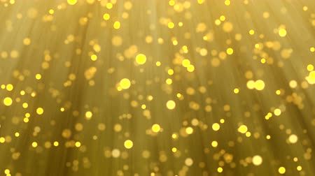 pré natal : Gold Christmas light background, glitter effect template. Elegant sparkle texture of golden blur particles falling for celebration or holiday season. Xmas card 4k animation footage.