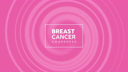 rak : Breast Cancer Awareness month 4k animation, pink ribbon drawing for health support. 2d concept footage of presentation, campaign template.