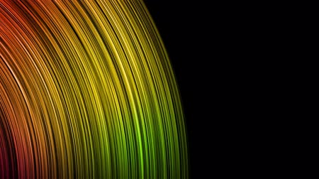 Colorful rainbow gradient light loop background on black color. Dynamic color fiber animation for presentation, screensaver or technology concept, 4k digital motion footage.