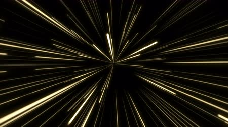 speed tunnel : Fast gold firework light in dynamic speed motion, animation background for intro or presentation concept with copy space. Seamless loop 4k footage.