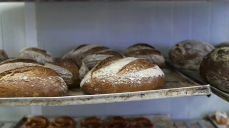 piekarz : Bread  on shelves ready for sale