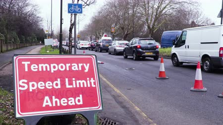 roadworks : rush hour congestion in London