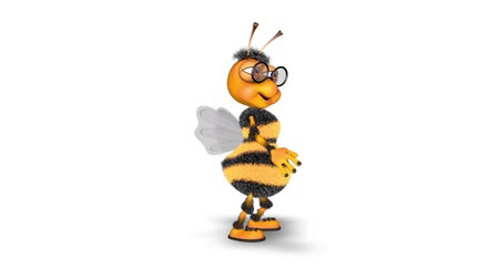 worker bees : 3D Bee Character - Fun Animation with Alpha Looped