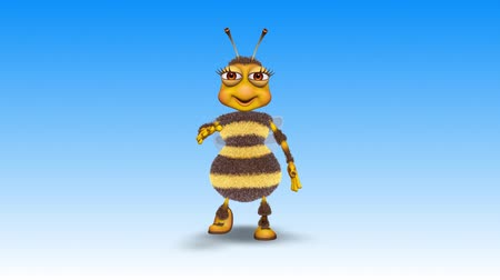 hummel : Bee 3D Fun Character, 2 Video Loops - im Hintergrund und auf Alpha Channel Videos