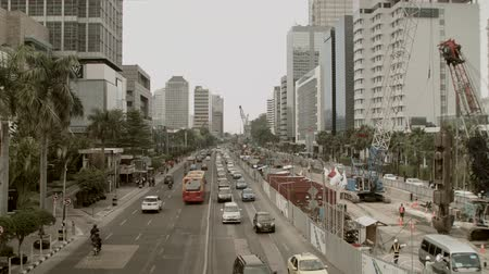 indonesia : Traffic in Asia Stock Footage