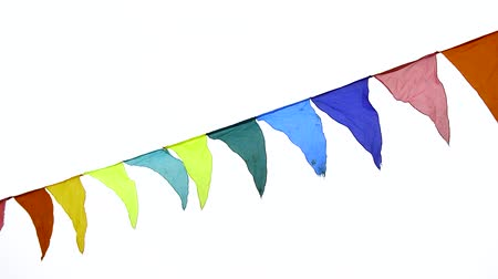 úterý : Decoration for the holiday, outdoor, colorful triangular flags Dostupné videozáznamy
