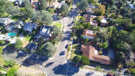 homes : Aerial of a southern California neighborhood with streets and homes, Stock Footage