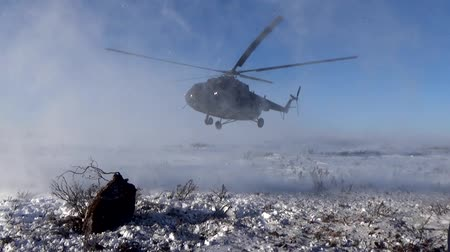 mi : Landing a helicopter on the tundra