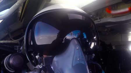lutador : The pilot in the helmet. Refueling Stock Footage
