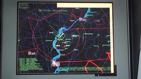 radars : The screen of the control locator