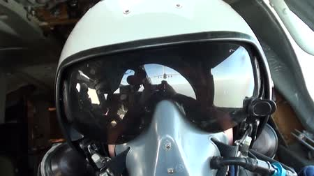 fighter : Selfie pilot in the ranks refueling Stock Footage