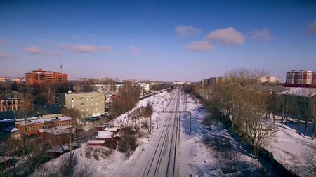 sleepers : Railway in the winter city