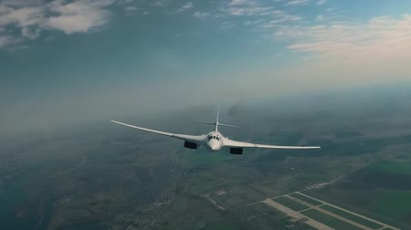 авиашоу : The plane flies over the airport