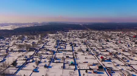 magasság : Winter holiday village from a height