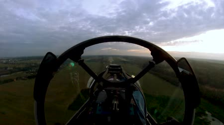 aerobatic : The view from the cockpit on landing
