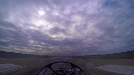 aerobatic : View from the cockpit on takeoff Stock Footage