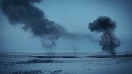 동토대 : A series of explosions in the winter tundra