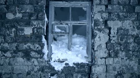 fasteners : Snow-covered window of Stalingrad