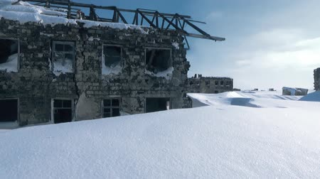 Panorama of winter snow-covered Stalingrad