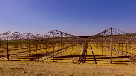 adapt : Numerous frames of greenhouses in the field