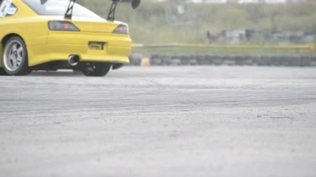 mph : Auto racing burning rubber on the wheels Stock Footage