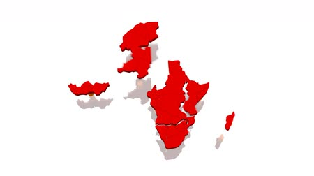 чад : Little plastic toy men tear apart Africa   3D model of Africa by Kabale