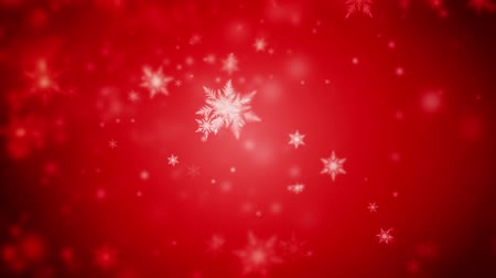 yuvarlak : High quality 20 seconds looping animation of abstract dark red Christmas background of defocused snowflakes (seamless loop, HD, high definition 1080p) Stok Video