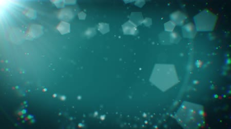aberração : Abstract 20 seconds looping animation of deep cyan Christmas background with bokeh defocused lights (chromatic aberrations, seamless loop, HD, high definition 1080p)