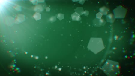 aberration : Abstract 20 seconds looping animation of deep green Christmas background with bokeh defocused lights (chromatic aberrations, seamless loop, HD, high definition 1080p)