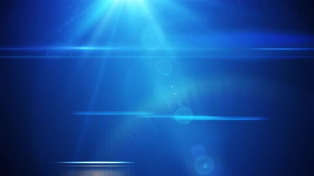 cores vibrantes : News style lens flares on deep blue rolling dots background seamless loop
