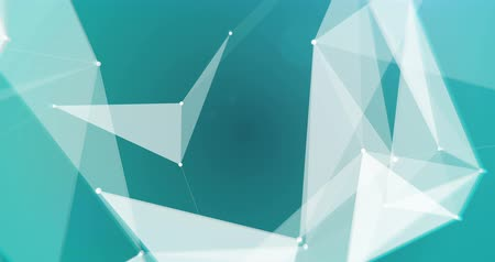 trójkąt : Close up low-poly white triangles on blue cyan background seamless VJ loop 15s 4K
