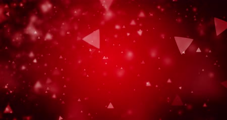 trójkąt : High quality looping animation of abstract dark red background with triangle bokeh defocused lights seamless loop, 4K