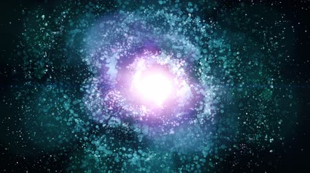 gömbölyű : Seamless loopable background of blue and pink nebula object for space, galaxy, universe, worship and VJ themes featured pulsar