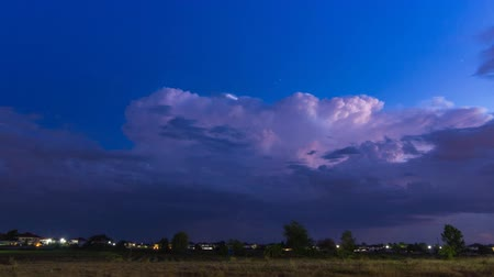 cıvata : Time Lapse Thunderstorm And Lightning In Sky Stok Video