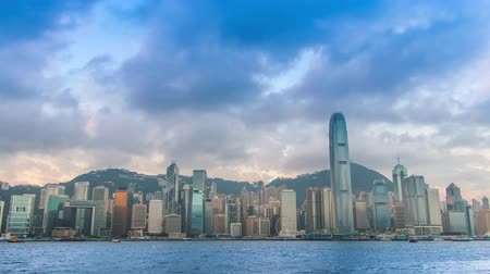 günler : Time Lapse Hong Kong Cityscape Day To Night