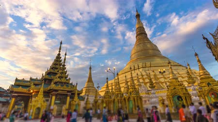 пагода : Time Lapse Beautiful Golden Shwedagon Pagoda Of Yangon Myanmar