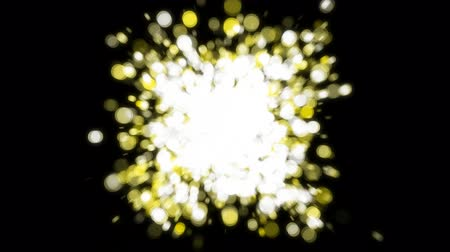 alfa : bubble explosion transition gold Stock Footage