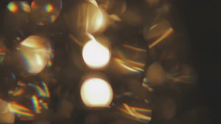 slowing : Moving bokeh lights - abstract animation for background - circles of light Stock Footage